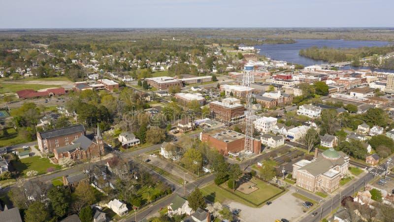 Elizabeth City North Carolina voor de Rivier van Forbes Bay en Pasqoutank- royalty-vrije stock fotografie