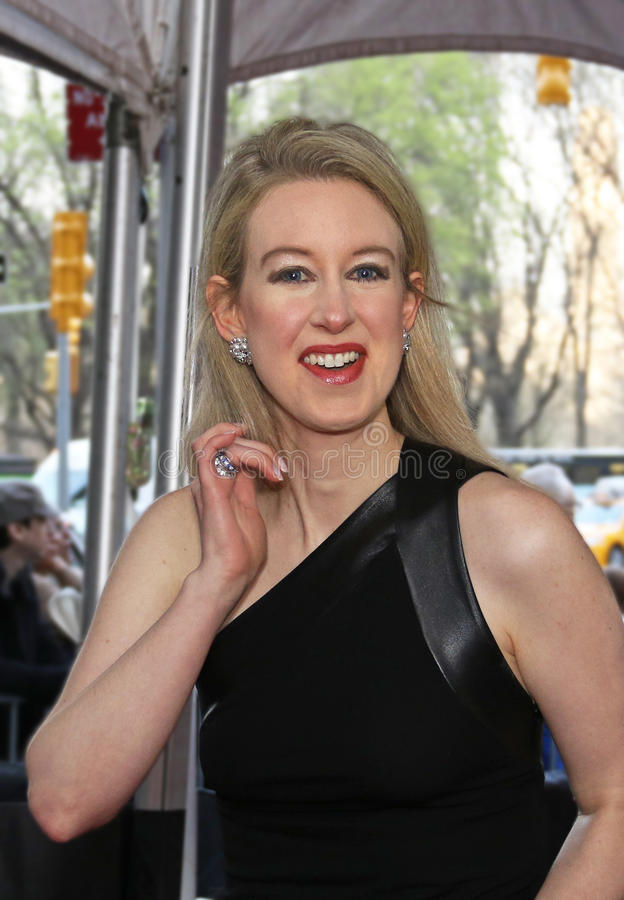 Con Artist Elizabeth Holmes Arrives 2015 Time 100 Gala royalty free stock image