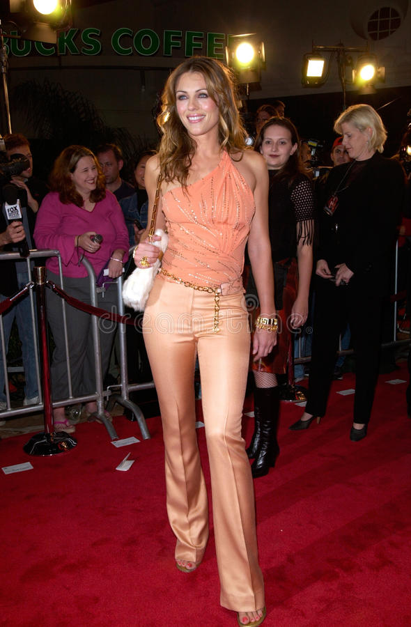 Elizabeth Hurley. Actress ELIZABETH HURLEY at the Los Angeles premiere of her new movie Bedazzled. 17OCT2000. Paul Smith / Featureflash stock image