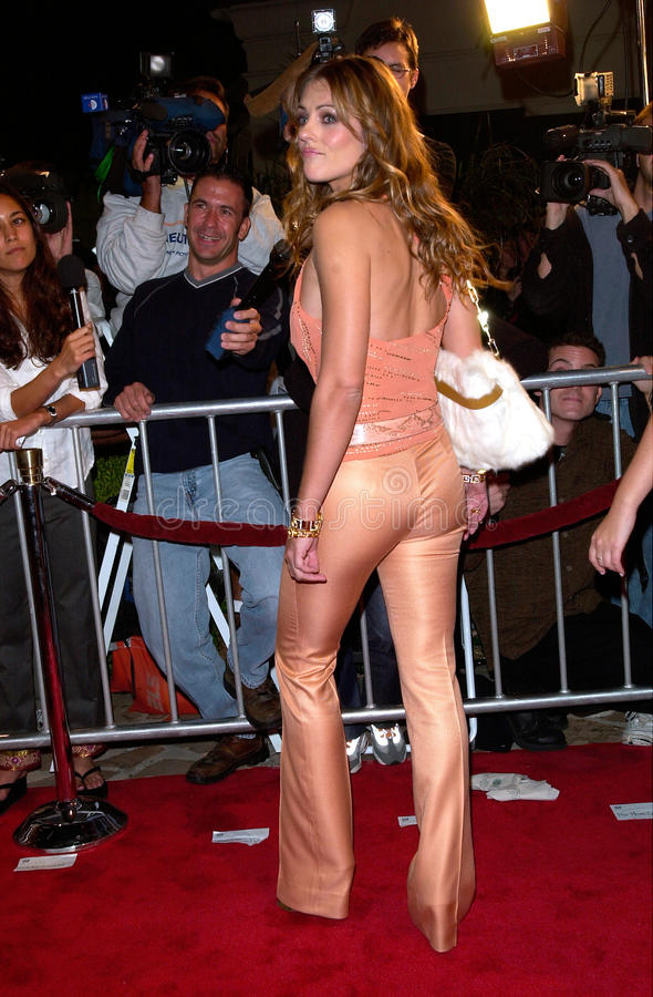 Elizabeth Hurley. Actress ELIZABETH HURLEY at the Los Angeles premiere of her new movie Bedazzled. 17OCT2000. Paul Smith / Featureflash royalty free stock photos