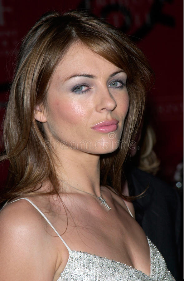 Elizabeth Hurley. Actress/model ELIZABETH HURLEY at the Jaguar Tribute to Style Gala at Santa Monica Airport. 18MAR2001. Paul Smith/Featureflash royalty free stock image
