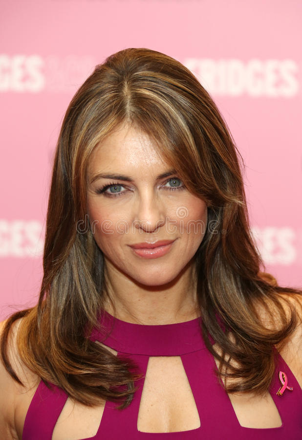 Liz Hurley. Elizabeth Hurley aka Liz Hurley at the Estee Lauder's Breast Cancer awareness campaign in Selfridges, London. 08/10/2012 Picture by: Henry Harris / royalty free stock photos