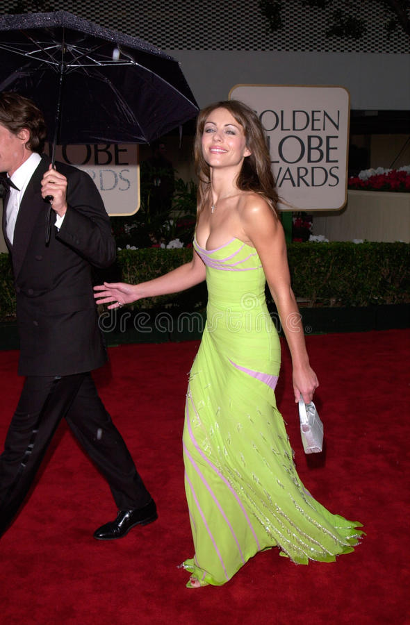 Elizabeth Hurley. 23JAN2000: Actress ELIZABETH HURLEY at the Golden Globe Awards in Beverly Hills. Paul Smith / Featureflash stock photography
