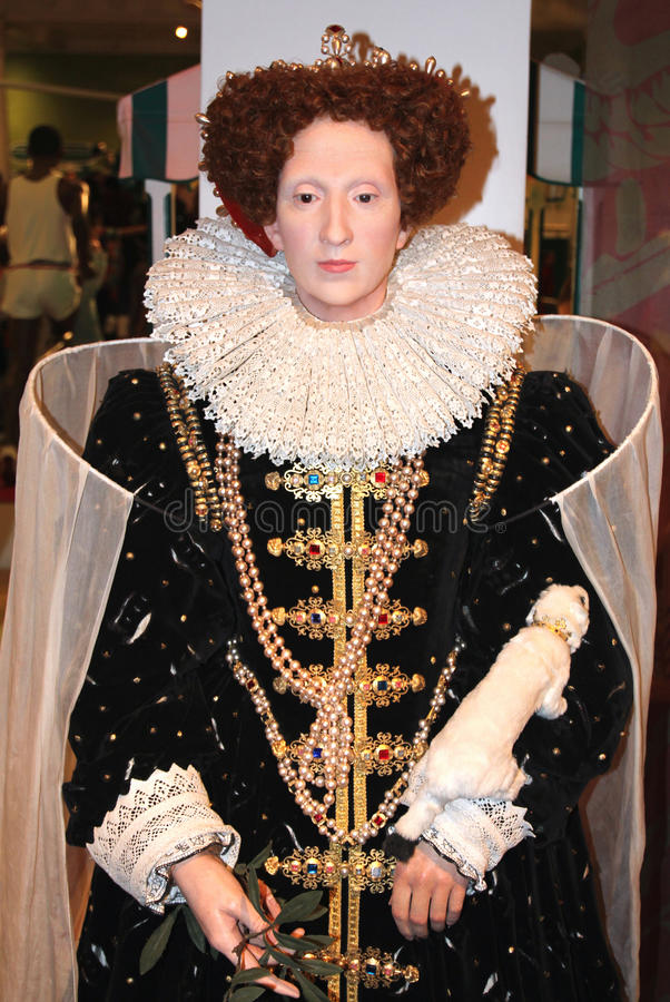 Elizabeth I at Madame Tussaud's stock images