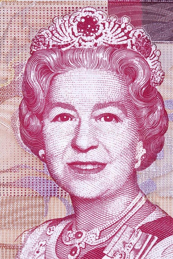 Elizabeth II ein Porträt vom bahamischen Geld stockfotografie