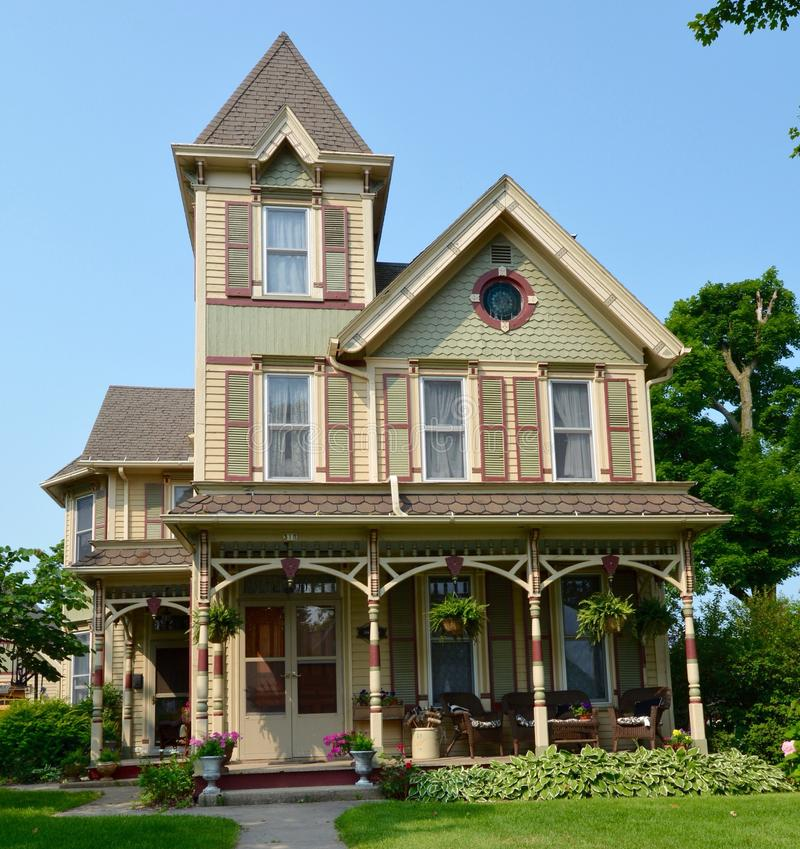 Elizabeth Italianate. This is a Summer picture of a house in Elizabeth, Illinois. The house built in 1890 is an example of Italianate architecture. This picture stock photography