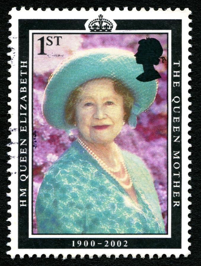 Elizabeth królowej matki UK znaczek pocztowy fotografia royalty free