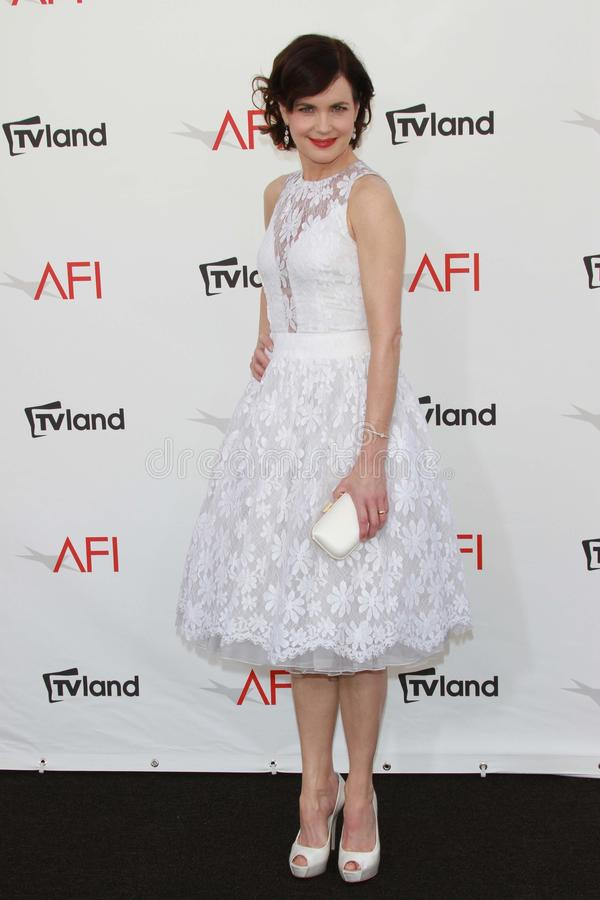 Elizabeth McGovern at the AFI Life Achievement Award Honoring Shirley MacLaine, Sony Pictures Studios, Culver City, CA 06-07-12 stock photography
