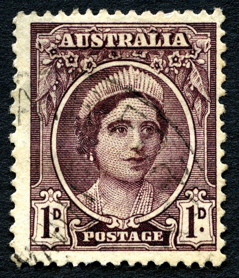 Elizabeth o selo postal do australiano da mãe de rainha fotografia de stock royalty free