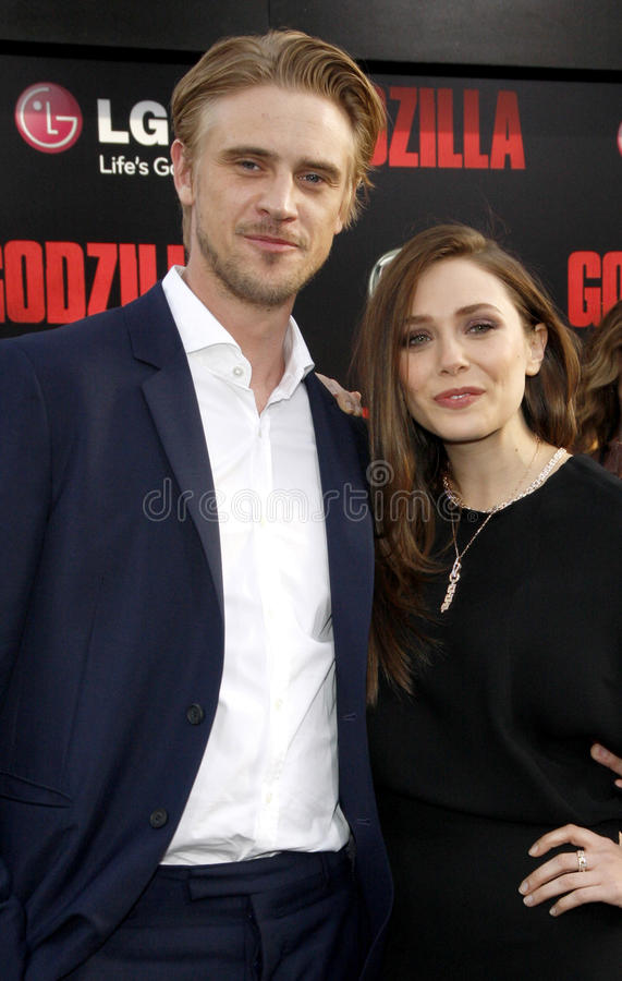 Elizabeth Olsen en Boyd Holbrook royalty-vrije stock afbeelding