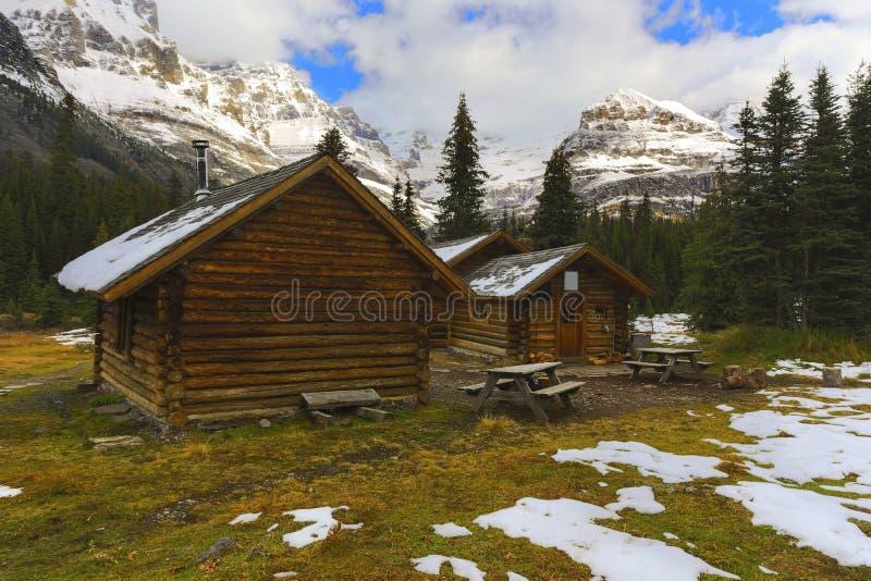 Elizabeth Parker Alpine Club von Kanada-Hütte in Yoho National Park stockbilder