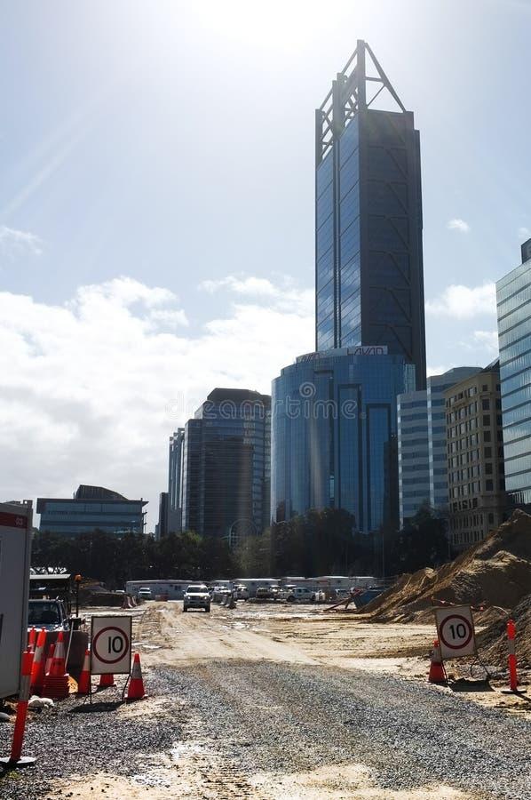 Elizabeth Quat Construction Site imagem de stock
