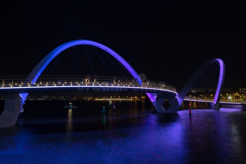 Elizabeth Quay à Perth photo stock