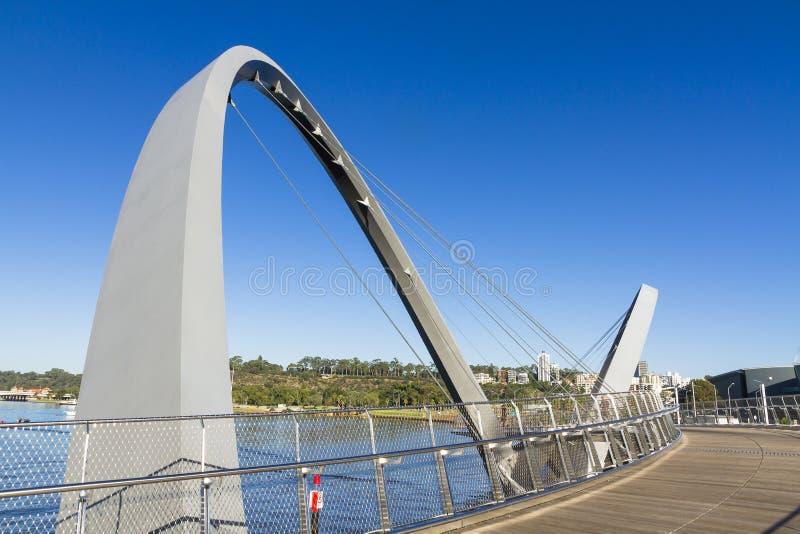 Elizabeth Quay Bridge royalty-vrije stock afbeeldingen