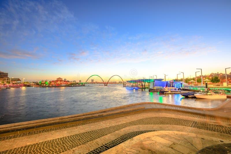 Elizabeth Quay Perth stock fotografie