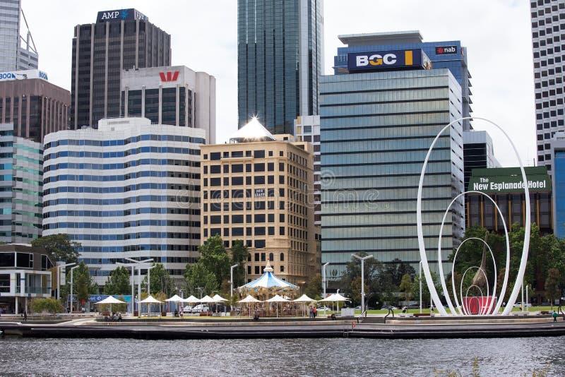 Elizabeth Quay, Perth, zachodnia australia zdjęcia royalty free