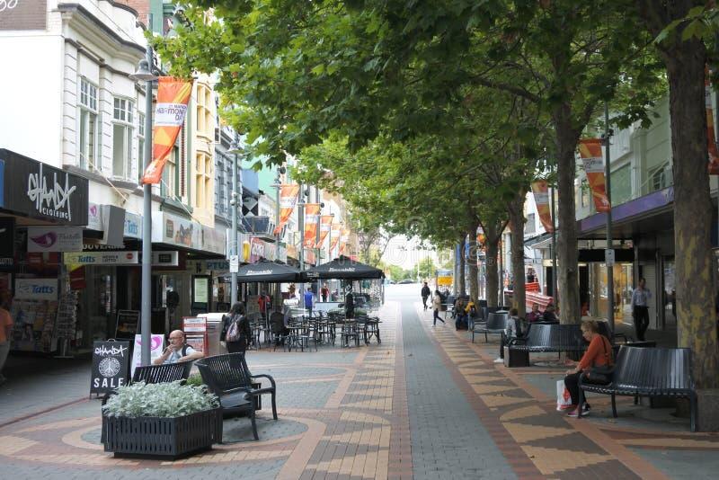 Elizabeth Street Mall Hobart stadsmitt Tasmanien Australien royaltyfria bilder