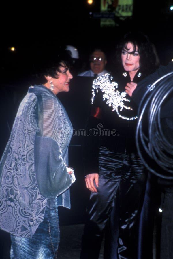 Elizabeth Taylor, Michael Jackson stock fotografie