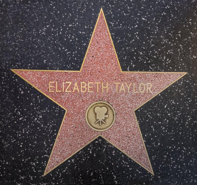 Elizabeth Taylor-ster stock foto