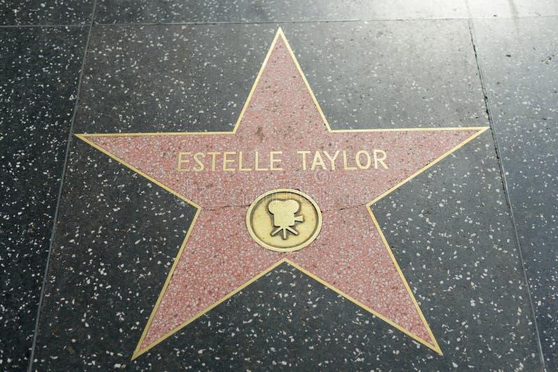 Elizabeth Taylor-ster op de Hollywood-Gang van Bekendheid stock foto's