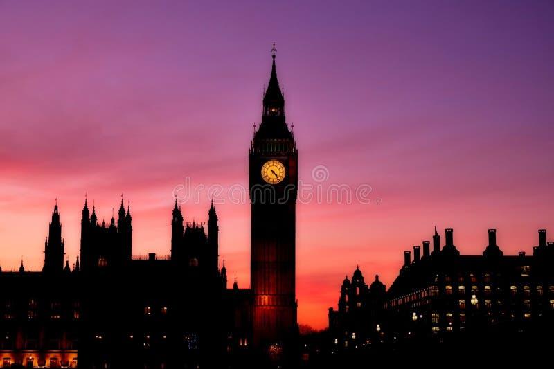 Elizabeth Tower och Big Ben arkivbild