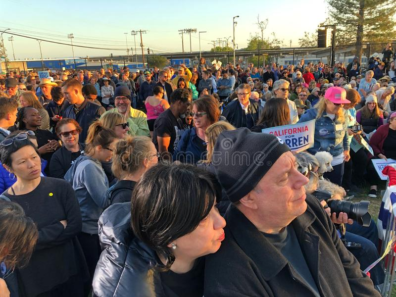 Elizabeth Warren Rally ? Oakland, la Californie images stock