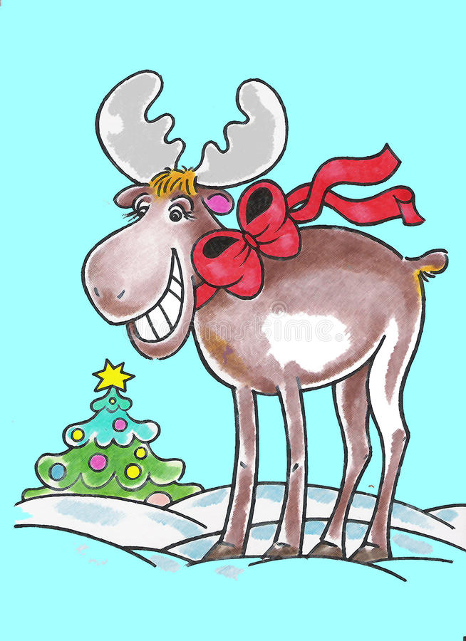 Download Elk And Christmas Royalty Free Stock Photos - Image: 11794888