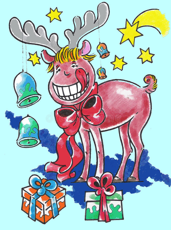 Download Elk On Christmas Stock Images - Image: 11806264