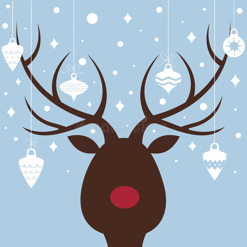 elk of christmas card stock illustration