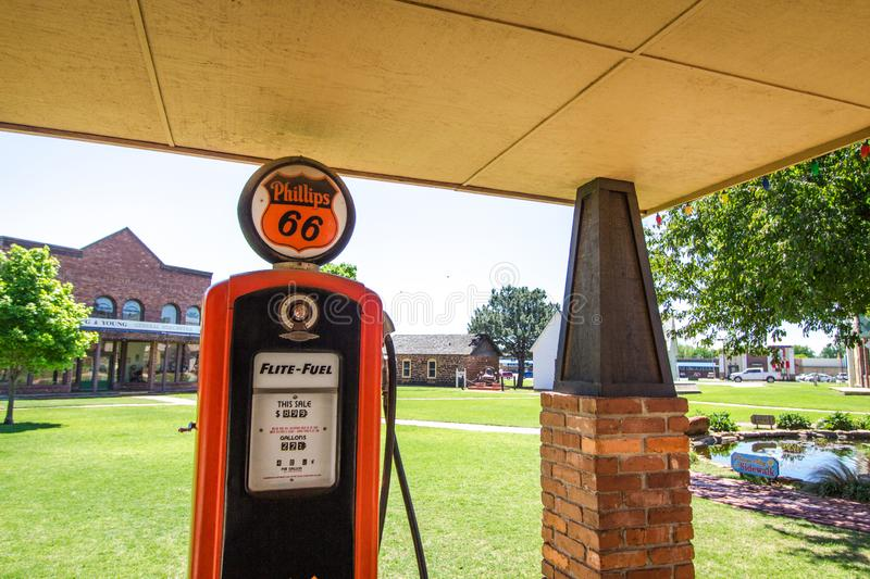 Phillips 66 Vintage Gas Pump royalty free stock image