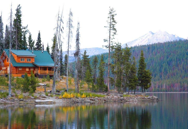 Elk Lake Lodge royalty free stock image
