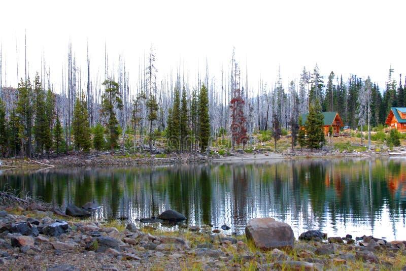 Elk Lake in October stock photography