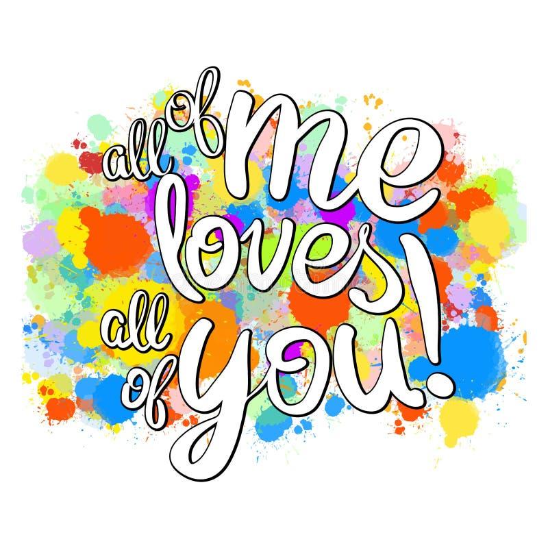 Elk van me liefdes iedereen het van letters voorzien royalty-vrije illustratie