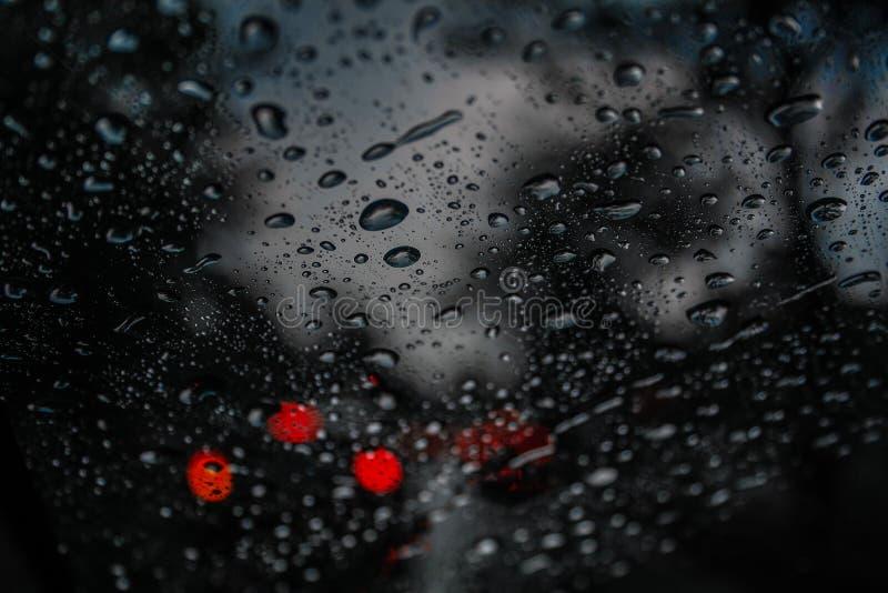 Elke regendruppel is een geheugen stock afbeelding