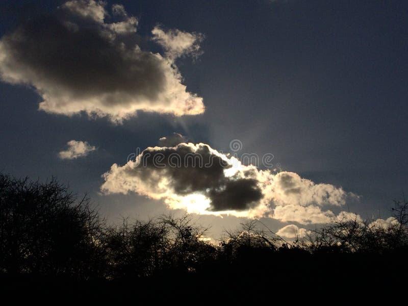 Elke wolk heeft een zilveren voering stock afbeelding
