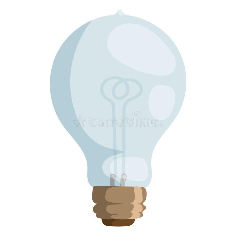 Elkraft för utrustning för elektricitet för objekt för kula för teckning för design för lampa för illustration för tecknad filmla royaltyfri illustrationer