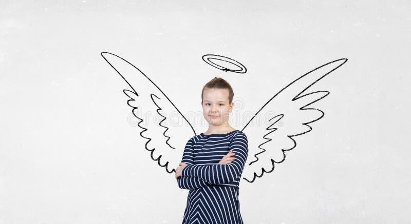 Ella es apenas un ángel imagenes de archivo