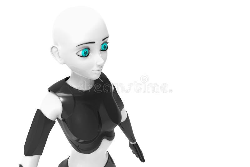Ella es una sonrisa del robot libre illustration