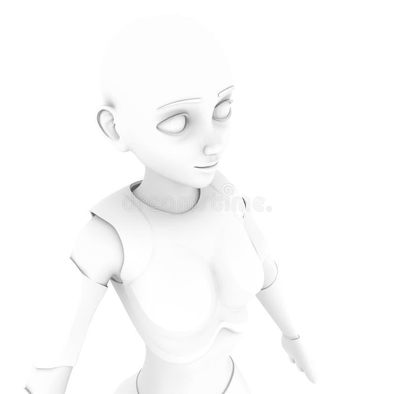 Ella es una sonrisa del robot ilustración del vector