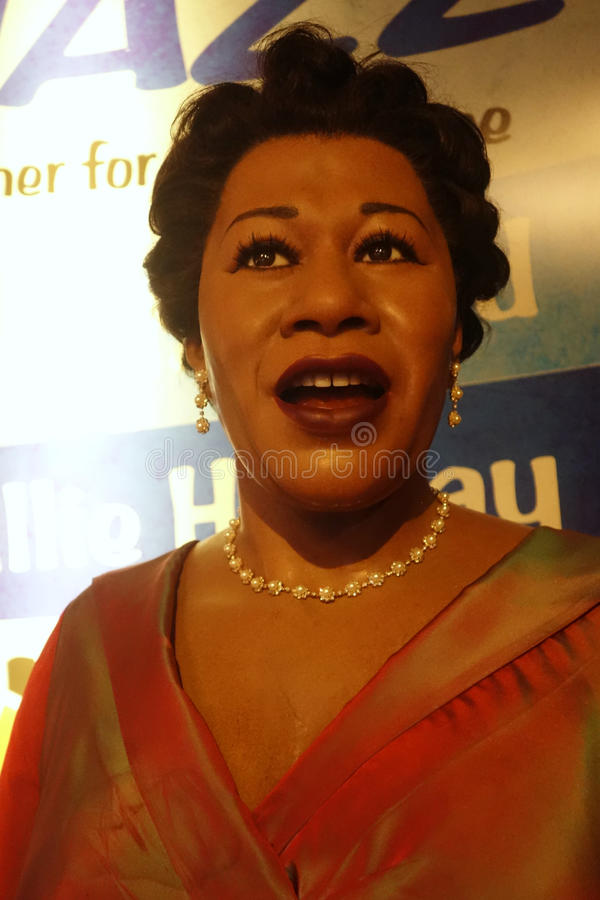Ella Fitzgerald Wax Figure. A wax figure of singer Ella Fitzgerald at Madame Tussauds in New York City royalty free stock photos