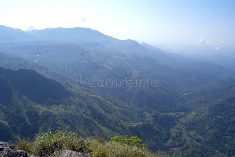 Ella Gap. Wiew from the Ella Rock near Ella, Sri Lanka royalty free stock photography