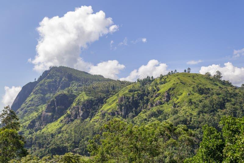 Ella Gap Mountain. Ella Gap - One of the beautiful Mountain peak in Sri Lanka royalty free stock photos