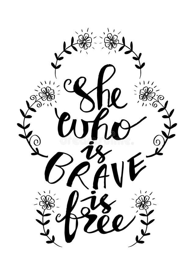 Ella que es valiente está libre stock de ilustración