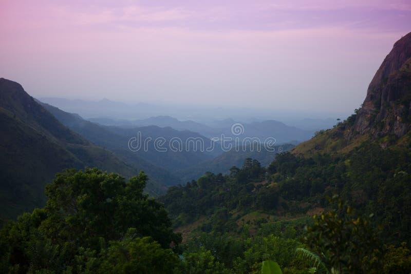 Ella rock. Sri lanka in twilight royalty free stock images