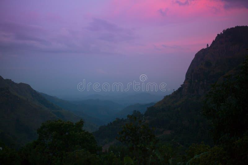 Ella rock. Sri lanka in twilight royalty free stock photography