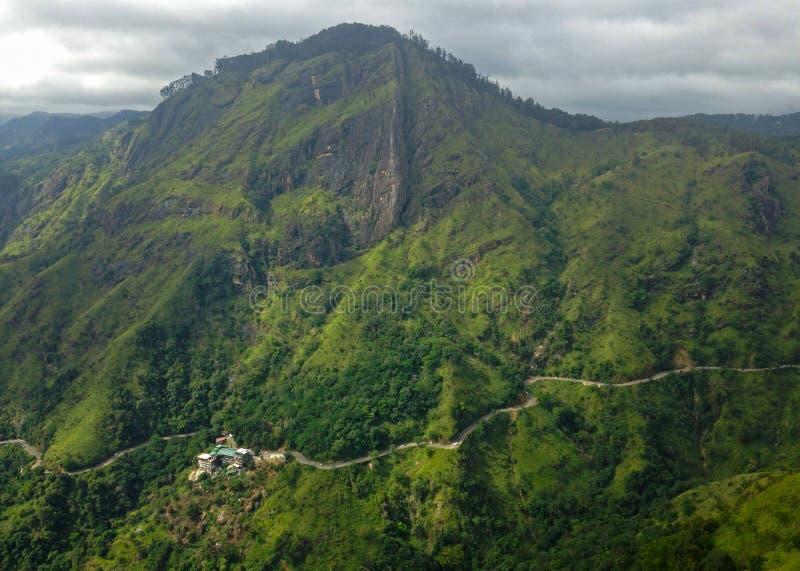 Ella rock view from Litlle Adam`s peak. Sri Lanka stock photo