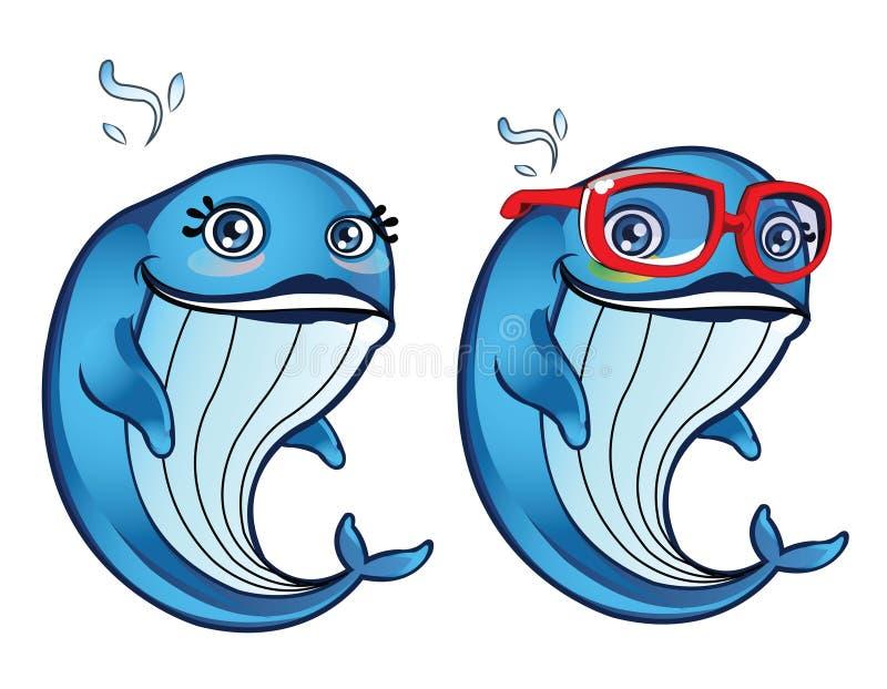 Elle baleine illustration de vecteur