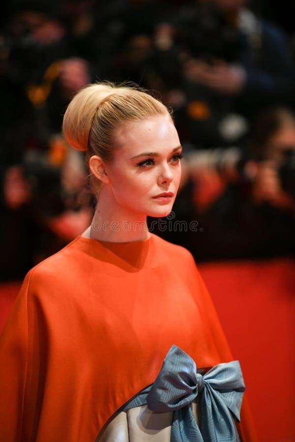 Elle die op het rode tapijt in Berlinale 2018 waaien stock foto