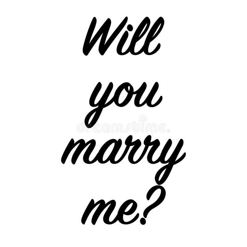 Elle a dit oui dessus vous se mariera illustration de vecteur