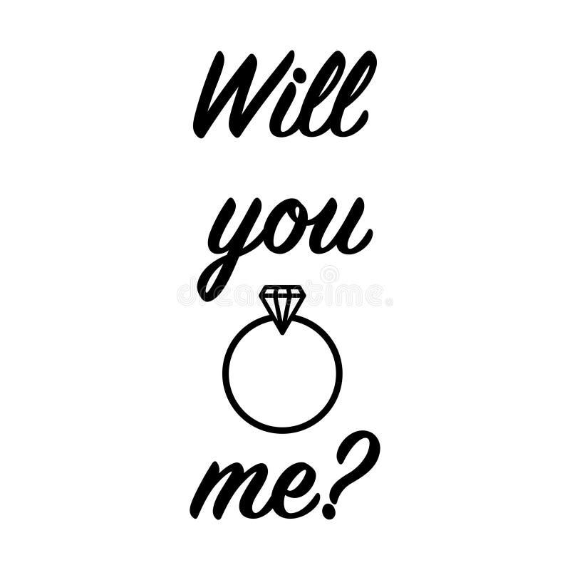 Elle a dit oui dessus vous se mariera illustration stock